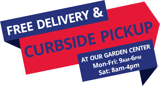 Free Delivery & Curbside Pickup at A+ Lawn & Landscape