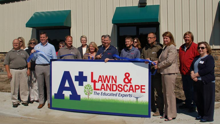 A+ Lawn & Landscape team of lawn care and landscaping experts.