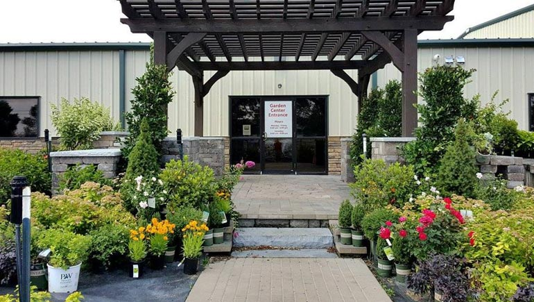 Our garden center is open to the public and features annuals, perennials, trees, and shrubs.