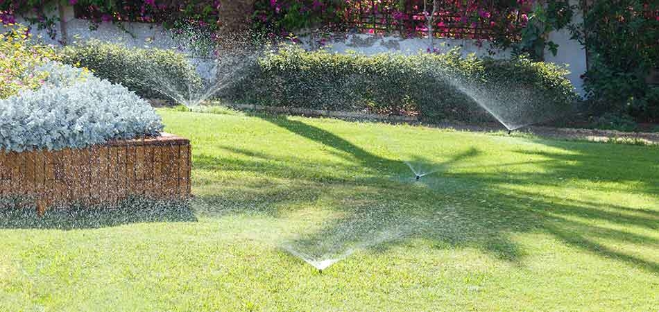 This sprinkler system in Des Moines is now fully functional after the water pressure issue has been adjusted.