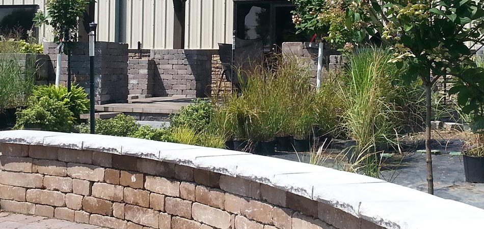 Hardscaping elements that are on display at A+ Lawn & Landscape, garden center in Des Moines,IA.