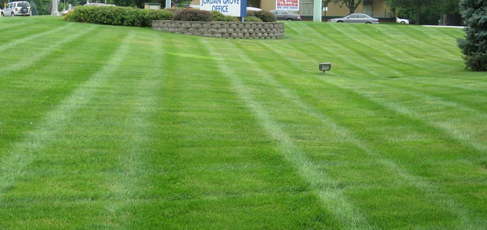 A commercial property in Waukee, IA that in mowed and receives regular maintenance.