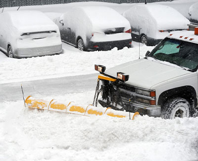 Commercial parking lot snow removal in Ankeny, IA.